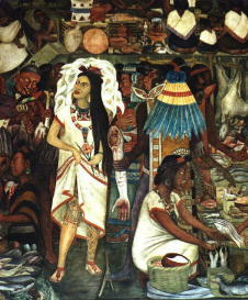 La gran tenochtitlan conquest of mexico for Diego rivera tenochtitlan mural